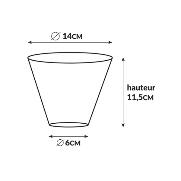 pot hugues dimensions