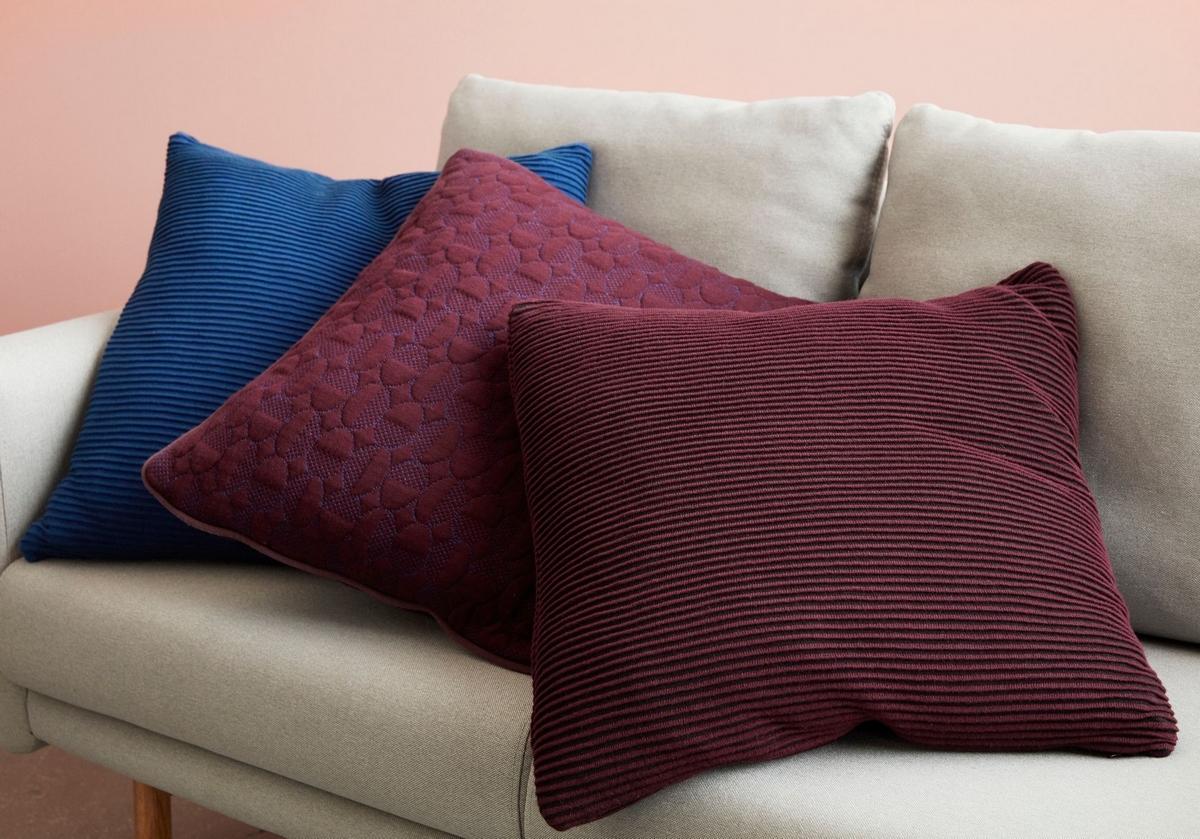 collection Hubsch, coussin velours, décoration intérieure, tendance