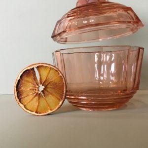 vaisselle transparente, vaisselle vintage, sucrier, bonbonnière, brocante, vintage