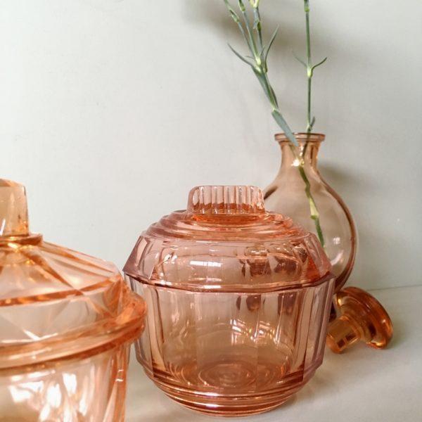 vaisselle ancienne, vaisselle vintage, vaisselle transparente, vintage, brocante, art de la table
