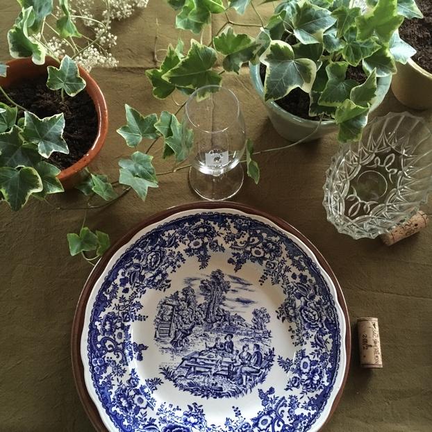 assiette ancienne, brocante, Lunéville, art de la table, vintage