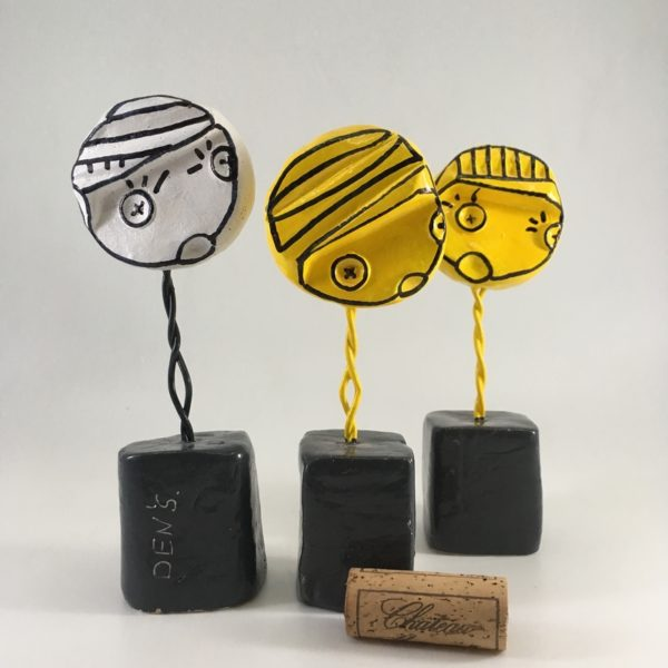 figurine d'art, création artistique, sculpture, artiste bordelais, cabinet de curiosités, pop art