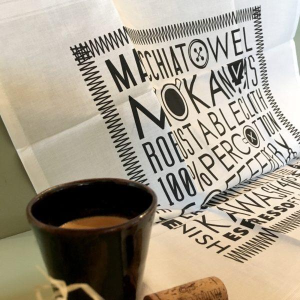 torchon, napkin, jeux de mots, café illustration,serviette de table, nappe, serviette de sommelier, cabinet de curiosités, design textile