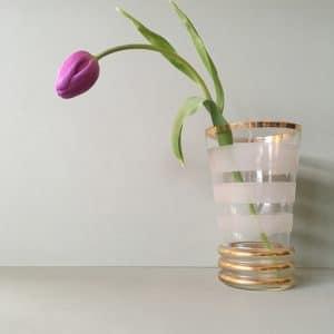 Vase granité blanc n.1