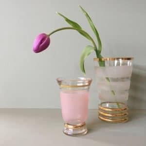 vase ancien, décoration vintage, vase granité, design des années 50