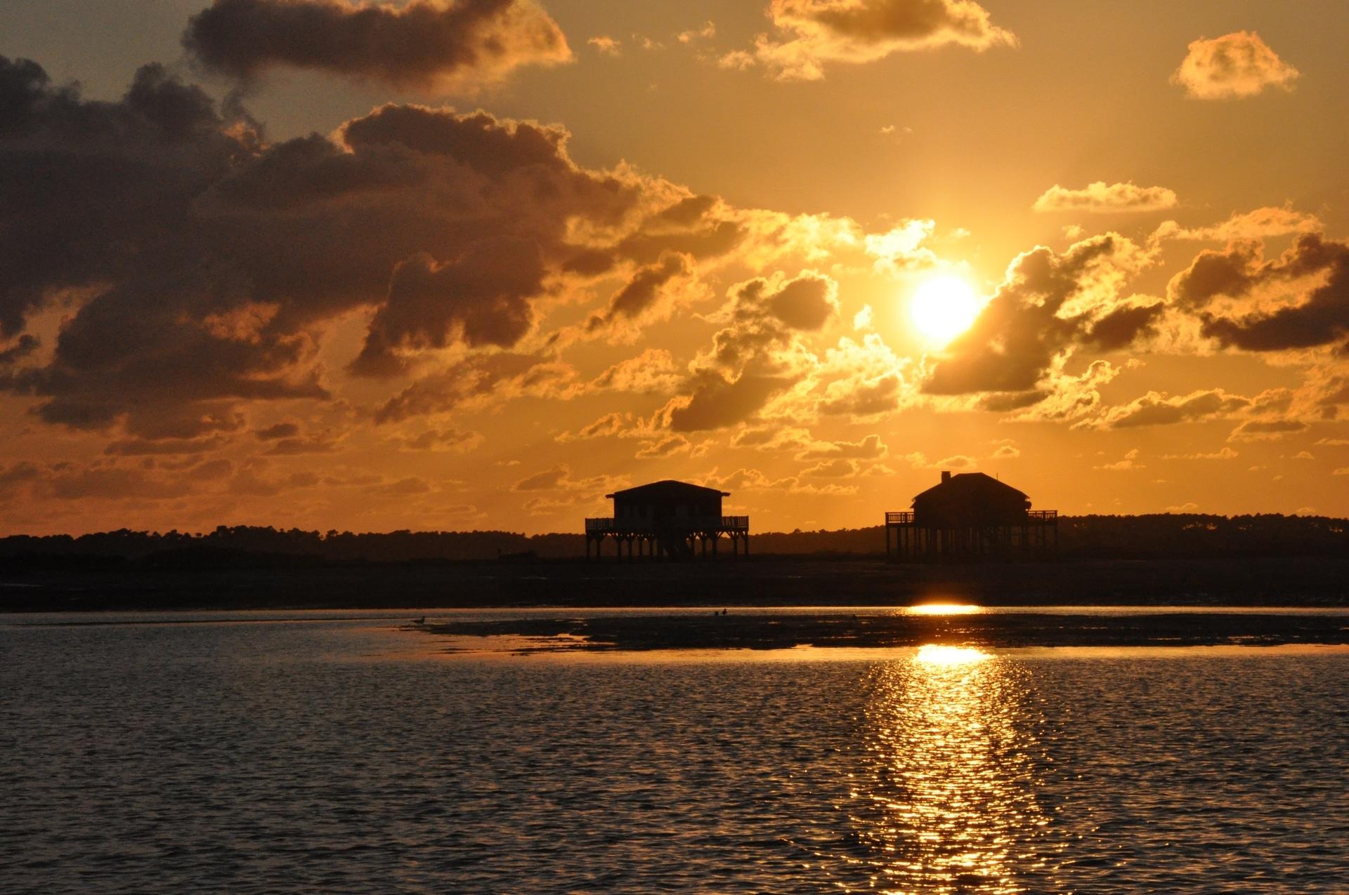 bassin d'arcachon, lege cap-ferret, coucher de soleil, photographie, instaphoto