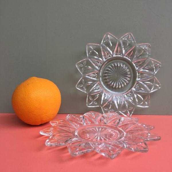 étoile, décoration de table givrée, décoration de table minimaliste, étoile en verre