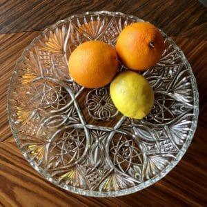 plat en verre, saladier vintage, vaisselle transparente, vaisselle vintage, corbeille à fruits