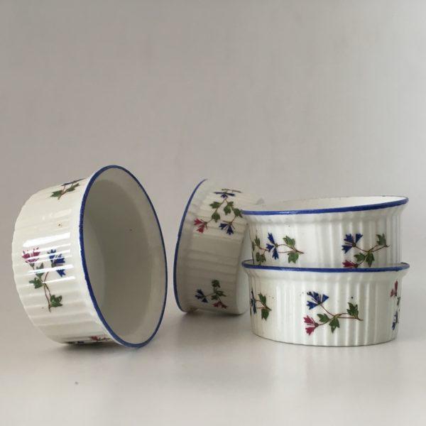 ramequin, porcelaine de Limoges, barbeau, porcelaine blanche