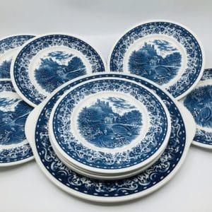 service à dessert, villeroy & boch, blue castel, art de la table
