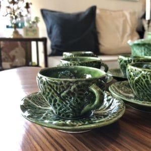tasse à café, barbotine, décoration vintage, décoration kitsch