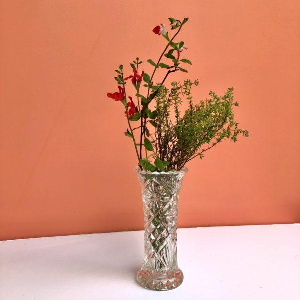 petit vase, décoration vintage, vase en verre, brocante