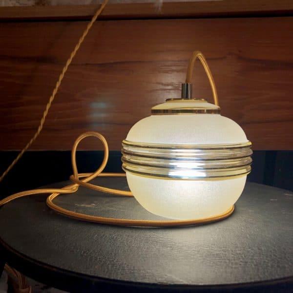 suspension vintage, suspension industrielle, lampe a poser, baladeuse, vintage décoration