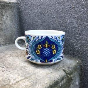 tasse à chocolat, vaisselle vintage, vaisselle bleue, Villeroy & Boch, Izmir
