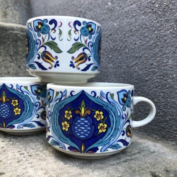 tasse à chocolat, Villeroy & Boch, vaisselle vintage, petit-déjeuner