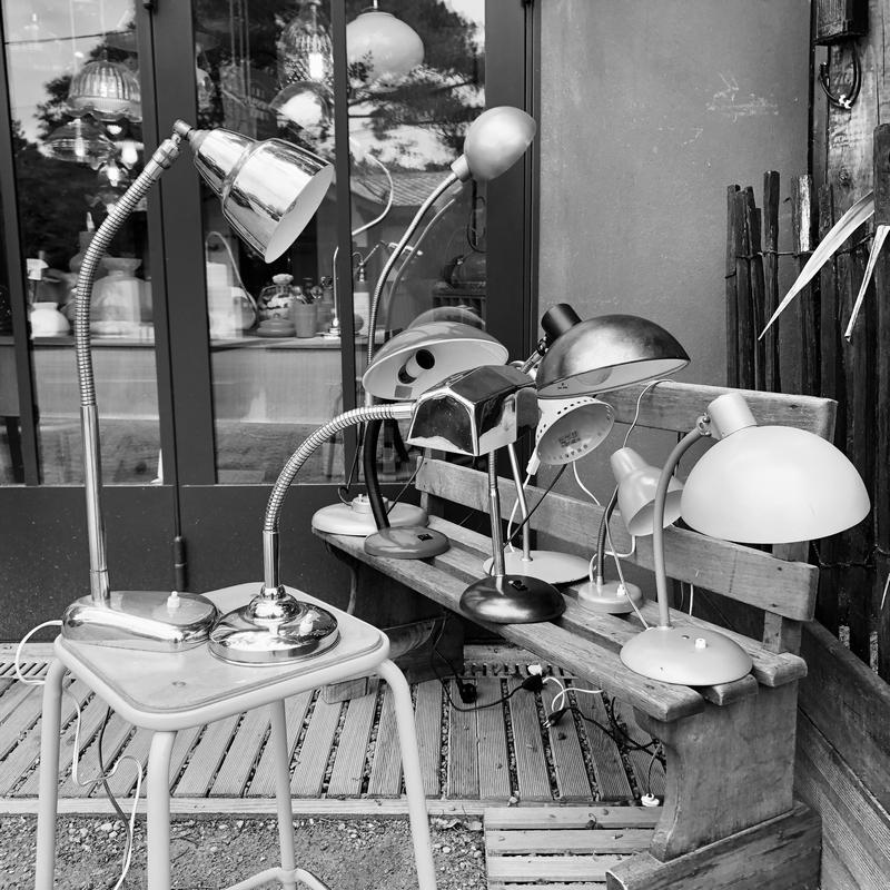 lampe de bureau, lampes vintage, décoration vintage