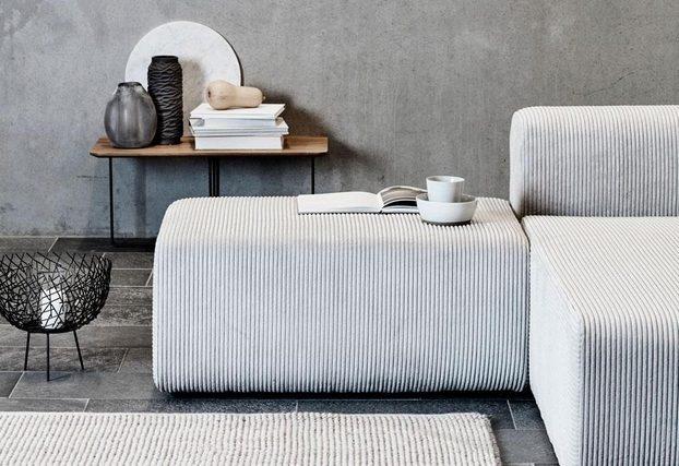 canapé velours, velours Broste Copenhague, décoration, blanc, tendance 2019