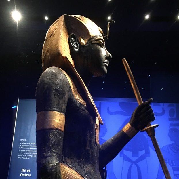 Toutankhamon, statue, décoration exotique, inspiration Egypte